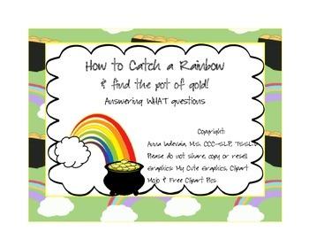 What questions - rainbow/ lebrechaun theme!