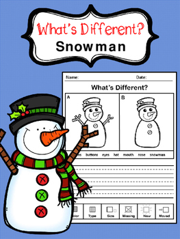 What's Different - Snowman Edition (For Beginners) (21 wor