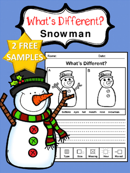 What's Different - Snowman Edition (For Beginners) Samples (FREE)