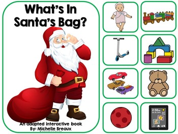 What's In Santa's Bag?--Adapted Christmas Book {Autism, Ea