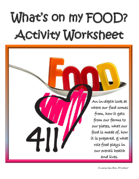 Nutrition for teens: What's on my FOOD? lab, worksheet & a