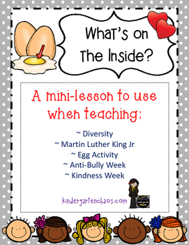 What's on the Inside? Mini Lesson and writing template on