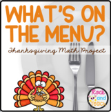 What's on the Menu? Thanksgiving Problem Solving