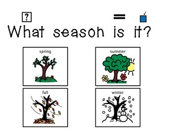 """""""What Season is it?"""" Daily Activity"""
