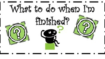 """""""What to do when I'm finished"""" Chart"""