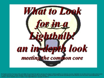 What to look for in a lightbulb: An in-depth look: meeting
