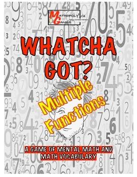 Whatcha Got?Multi-Function- Mental Math,Vocab, Add, Subtra