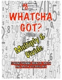 Whatcha Got? Multiplication and Division, Vocabulary Cool