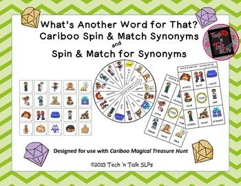 What's Another Word for That?  Spin & Match and Spin & Mat