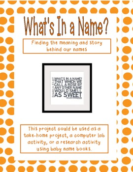 What's In A Name? Research activity