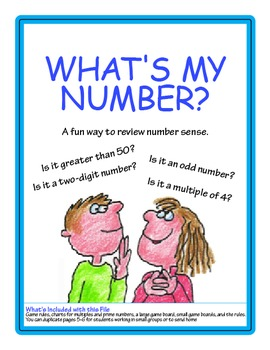 What's My Number? FREEBIE