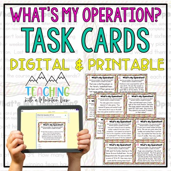 What's My Operation? Task Cards or SCOOT *Determine the Op