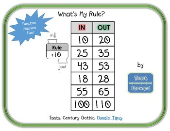 What's My Rule? Function Machine FREEBIE