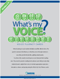 What's My Voice? Fluency Cards: Grades 3-5