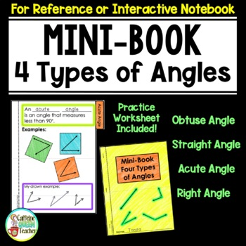 Angles Foldable Flipbook - 4 Types of Angles