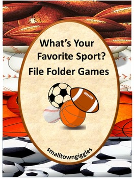 Sports Math and Literacy File Folder Games for Interactive