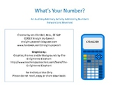 What's Your Number?  Auditory Memory Practice
