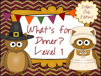 What's for Dinner? A set of Thanksgiving activities Level