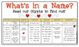 What's in a Name Glyph Activity Packet
