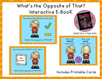 What's the Opposite of That?  Interactive E-Book and Printables