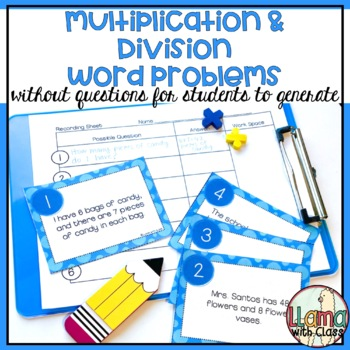 What's the Question? Multiplication and Division Story Pro