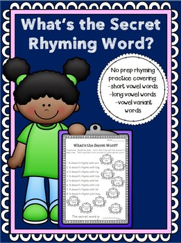What's the Secret Rhyming Word?