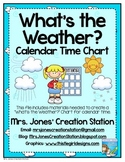 What's the Weather? {Calendar Time Chart}