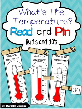 What's the temperature? Math Center Game- 4 Seasons Center