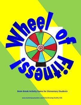 Wheel of Fitness! Fun Brain Break Activities