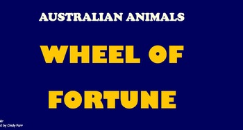 Wheel of Fortune Game Australian Animals goes with ParrMr'