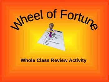 Wheel of Fortune Review Game
