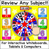 Quiz Review Game for Any Subject - SMARTboard Game - Test Prep