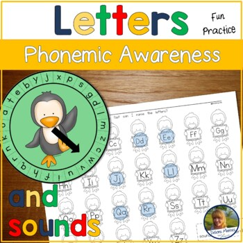 Initial Sounds Wheels of Fun! Penguin Themed