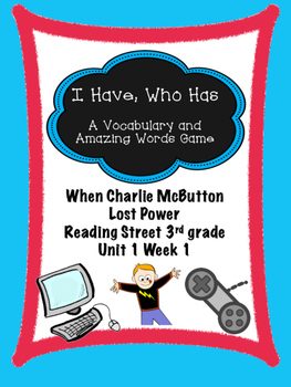 When Charlie McButton Lost Power  Reading Street 3rd grade