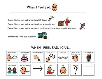 Social Story, When I Feel Sad - Autism VISUAL