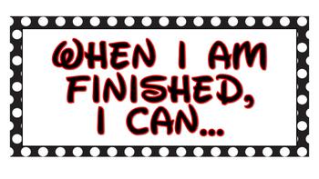 When I Finish, I Can... Chart
