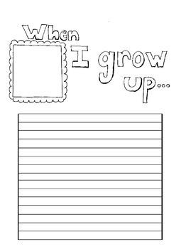 When I Grow Up Writing Sheet