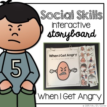 When I'm Angry - Social Story Interactive Storyboard { for