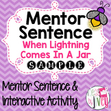 When Lightning Comes in a Jar: Free Mentor Sentence Lesson