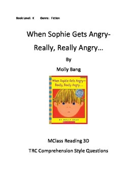 When Sophie Gets Angry- Really, Really Angry...Comprehensi