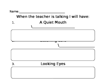 When Teacher Is Talking Poster (TeachTown Pair Up) *Editable