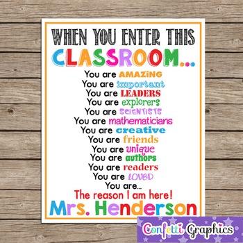 When You Enter This CLASSROOM Teacher School Motivational