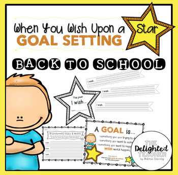 When You Wish Upon a Star {Back to School} Goal Setting Cr