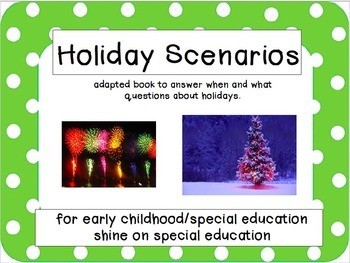 When/What Holiday - Adapted Book/File Folders