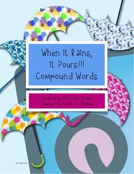 When it Rains, it Pours! Compound Word Concentration Game