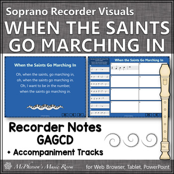 When the Saints Go Marching In - Soprano Recorder Visuals