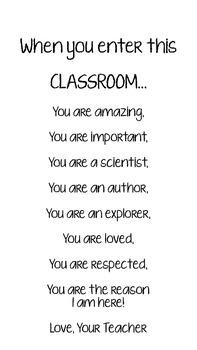 When you enter this classroom... Inspiration