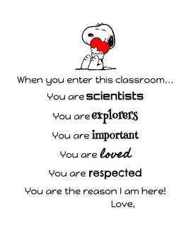 When you enter this classroom Poster