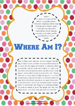 Where Am I? - A Game of Taboo