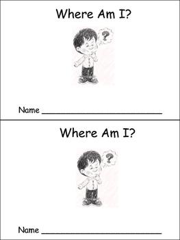 Where Am I Emergent Reader for Preschool or Kindergarten